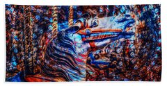 Beach Towel featuring the photograph Carousel Dream by Michael Arend