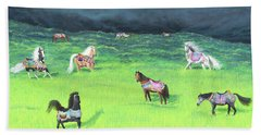 Carousel Horse Retirement Beach Sheet
