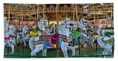 Carousel Horses Beach Sheet