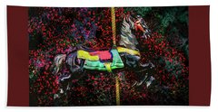 Beach Towel featuring the photograph Carousel Number 16 by Michael Arend