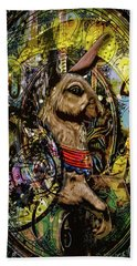 Beach Towel featuring the photograph Carousel Rabbit by Michael Arend
