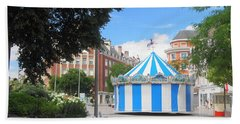 Carousel Beach Towel by Therese Alcorn