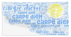 Beach Towel featuring the digital art Carpe Aestatem by Bee-Bee Deigner