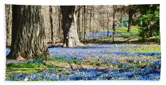 Carpet Of Blue Beach Towel by Stephanie Moore