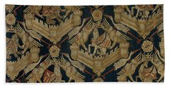 Carpet With The Arms Of Rogier De Beaufort Beach Towel by R Muirhead Art