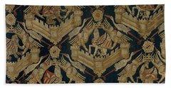 Carpet With The Arms Of Rogier De Beaufort Beach Sheet by R Muirhead Art