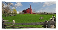 D14d-43 Carriage Hill Farm Metro Park Photo Beach Towel