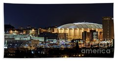 Carrier Dome And Syracuse Skyline Panoramic View Beach Towel