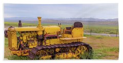 Beach Towel featuring the photograph Carrizo Plain Bulldozer by Marc Crumpler