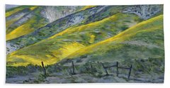 Carrizo Spring Mustard Beach Towel