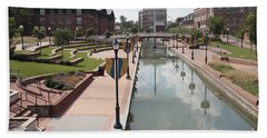 Carroll Creek Park In Frederick Maryland Beach Towel