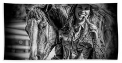Carrots Cowgirls And Horses  Black Beach Sheet