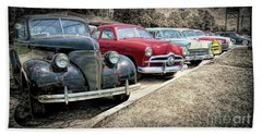 Cars For Sale Beach Towel by Marion Johnson
