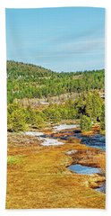 Beach Towel featuring the photograph Carson Runoff by Nancy Marie Ricketts
