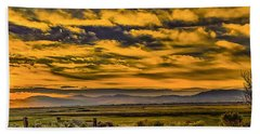Beach Towel featuring the photograph Carson Valley Sunrise by Nancy Marie Ricketts