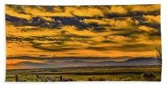 Carson Valley Sunrise Beach Sheet by Nancy Marie Ricketts