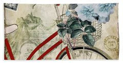 Carte Postale Vintage Bicycle Beach Towel