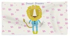 Cartoon Sweet Dreams Lion Beach Sheet