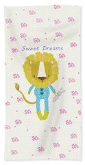 Cartoon Sweet Dreams Lion Beach Sheet