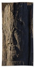 Carved Fence Post Beach Towel