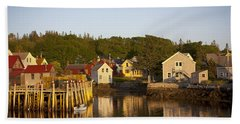 Carvers Harbor At Sunset, Vinahaven, Maine Beach Towel