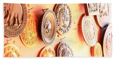 Carvings With Summer Glow  Beach Towel