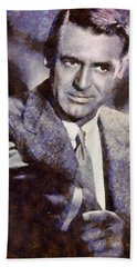 Cary Grant Hollywood Actor Beach Towel by Esoterica Art Agency