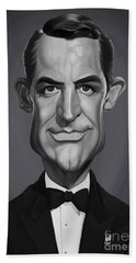 Beach Towel featuring the digital art Celebrity Sunday - Cary Grant by Rob Snow