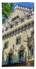 Beach Towel featuring the photograph Casa Amatller In Barcelona by Eduardo Jose Accorinti