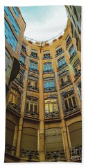 Beach Towel featuring the photograph Casa Mila - Barcelona by Colleen Kammerer