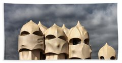 Casa Mila Masks Beach Towel