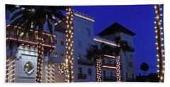 Casa Monica Inn Night Of Lights Beach Sheet