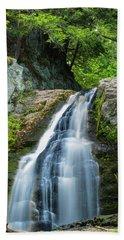 Cascade Falls In South Portland In Maine Beach Towel