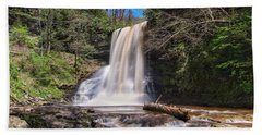 Cascade Falls In Spring Beach Towel