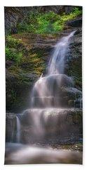 Beach Towel featuring the photograph Cascade Falls, Saco, Maine by Rick Berk