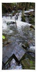 Cascade Falls Stream, Farmington, Maine  -30329 Beach Towel