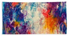 Beach Towel featuring the painting Cascade Into The Oceans by Tracy Bonin