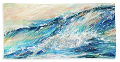 Beach Towel featuring the painting Cascade by Linda Olsen