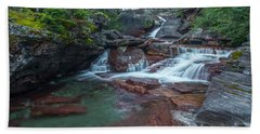 Beach Towel featuring the photograph Cascades by Gary Lengyel