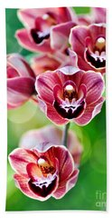 Cascading Miniature Orchids Beach Towel