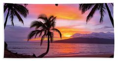 Cascading Palms Beach Towel by James Roemmling