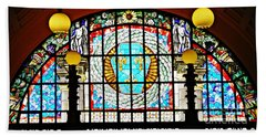 Casino Stained Glass Beach Towel by Sarah Loft