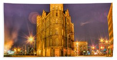 Cass Castle Detroit Mi Beach Towel