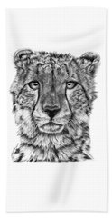 Cassandra The Cheetah Beach Towel