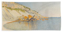 Beach Sheet featuring the painting Cassis. Cap Lombard. Opus 196 by Paul Signac