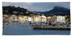 Cassis Town And Harbor Beach Towel