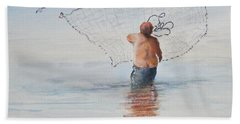 Cast Net Fishing Beach Towel