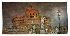 Beach Towel featuring the photograph Castel Sant Angelo Fine Art by Hanny Heim