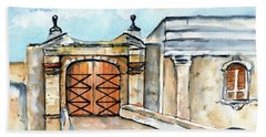 Castillo De San Cristobal Entry Gate Beach Towel