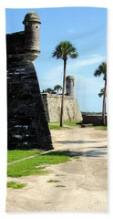 Castillo De San Marcos St Augustine Florida Beach Sheet by Bill Holkham